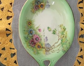 enchanting 1930's Royal winton Grimwades meadow scene dish / royal winton china basket