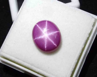 7.90 Ct Certified Natural Oval Shape Cabochon Star Red Ruby Gemstone Ring Size AO1812