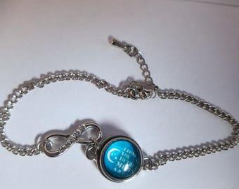 Mini Moon and Back Infinity bracelet