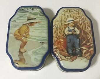 Vintage Good Housekeeping Seasons Tins