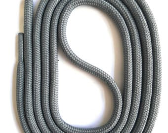 SNORS - lace - safety lace grey, 4 lengths, approx. 5 mm - round laces for work shoes, hiking boots, trekking shoes