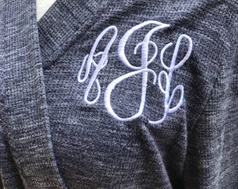 Monogrammed Bridesmaid Robe / Getting Ready Robes / Cotton Micro-Wafflle Robes / Bath Robe