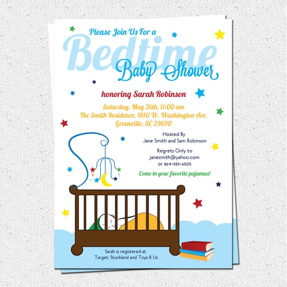 Bedtime Stories Baby Shower Invitation Printable Story Book