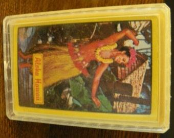 vintage ephemera ... ALOHA HAWAII Playing CARDS unopened vintage Family Board Game ...