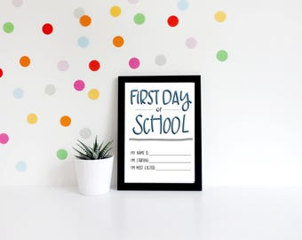 First Day of School Sign   Back to School   PRINTABLE
