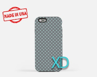 Charcoal Gray Phone Case, Charcoal Gray iPhone Case, Grid iPhone 7 Case, Blue, Grid iPhone 8 Case, Charcoal Gray Tough Case, Clear Case