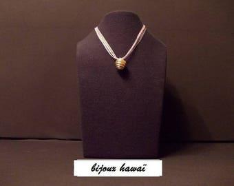 Pink fimo flower pendant