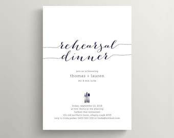Wedding Rehearsal Dinner Invitation \ Printable Invitation \ Custom Colours \ Digital Invitation (RD29)