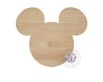 Mickey Mouse Wooden Blank Unfinished, Wooden Blanks, Wooden Shapes, Wooden Wreath Shapes, Wooden Door Hangers, Shape Blanks, MICKEY cutout