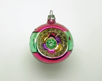 Vintage Christmas Ornament Glass Ornament Indent