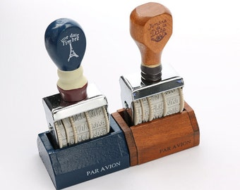Dates Stamp Wooden Stamp Rubber Stamp Decoration Stamp