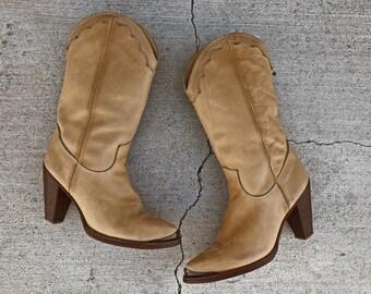 Vintage Zodiac heeled western boots