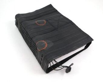 Journal, bike tube, recycled vegan handmade blank, medium