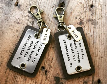 Leather Spiritual Keychain