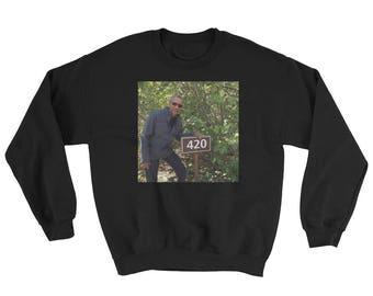 420 Obama Print Unisex Holiday Sweater Pullover Oversized Sweat Shirt Plus Size S M L XL 2X 3X 4X 5X