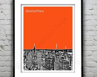Manhattan New York City Poster Print Art  Brooklyn Bronx Times Square Soho  Item T1007