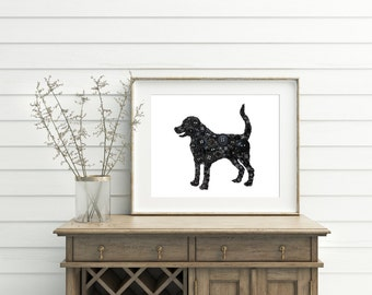 Labrador Retriever Portrait Button Art Canvas Labradoodle Goldendoodle Dog Art Button Art Swarovski Rhinestones Icon Custom Wall Art