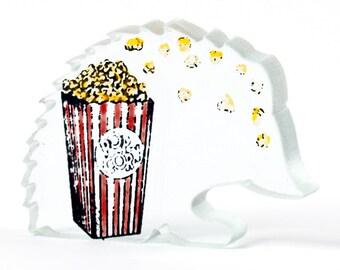 Popcorn Hedgehog Glass Sculpture