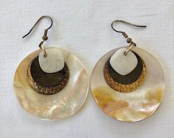 Iridescent Disc Earrings