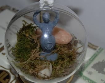 Goddess Garden Terrarium Ornament