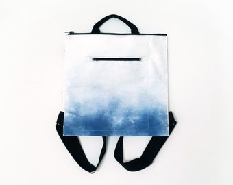 urban outfitter, Blue Gradient bag, everyday bag, eco friendly bag, gift for him, gift for her, hand printed, unique bag, vegan bag