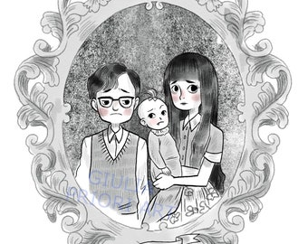 A Series of Unfortunate Events ORPHANS Gothic Art print
