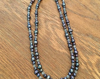 Freshwater Pearl & Labradorite Necklace