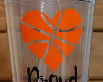 Proud Basketball Mom Tumbler Straw Cup! Basketbal Mom Cup! Proud Sports Mom Cup! Proud Basketball Mom Tumbler Straw Cup! Sports Mom Cup!