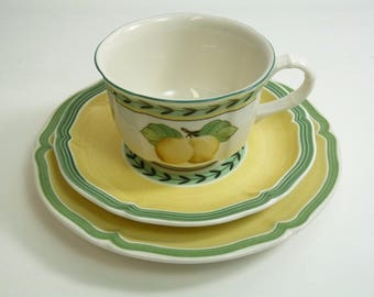 Villeroy and Boch FRENCH GARDEN Fleurence Pattern Tea Cup Saucer and Plate