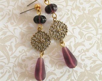 Sophisticated Amethyst Dangle Earrings
