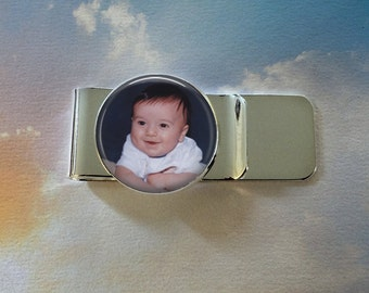 Custom Photo Money Clip -  Personalized for Dad or Wedding -  Men's Keepsake - Father's Day Gift