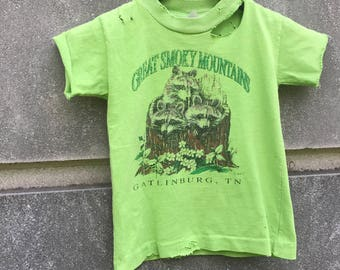 KIDS vintage Gatlinburg tee.  One of a kind and hand distressed.