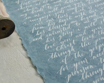 Calligraphy Vows - First Anniversary Gift - Wedding Vow Art - Wedding Vow Keepsake -One Year Anniversary-Paper Anniversary- Vow calligraphy