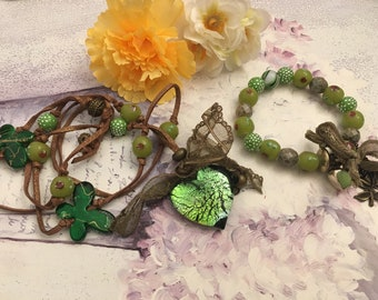 Spring Green ethnic adornment