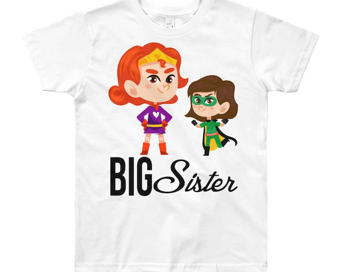 Superhero Big Sister Design T-Shirt