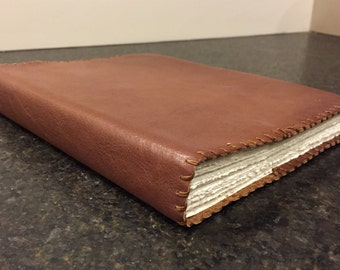 Handmade Leather Refillable Notebook