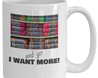 I want more knitting mug