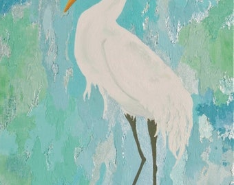 Egret in salt marsh # 1