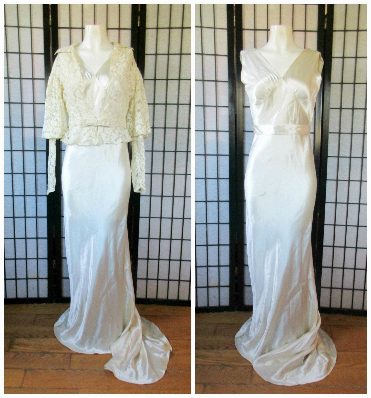 Jahrgang der 30er Jahre Brautkleid 1930er Jahre Schnitt Braut
