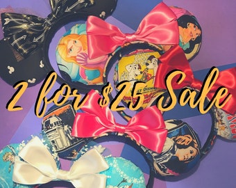 2 for 25 Sale - Minnie-inspired ears