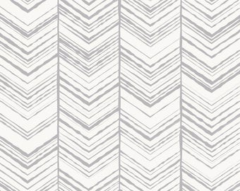 Hand Drawn Herringbone Pattern Removable Wallpaper | Peel and Stick Wallpaper | Home Décor and Wall Décor | Interior Design | W1019