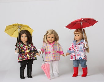 Hooded Raincoat for 18 Inch Doll