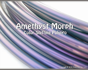 "Color-Shifting 'AMETHYST MORPH' Polypro!  3/4"" OR 5/8"" Polypro Hoop Or Minis Set! Free Sanding Option.Over 32K Sold!"