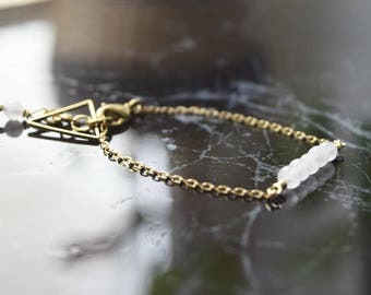 ARBOLES M10• bracelet with rose quartz