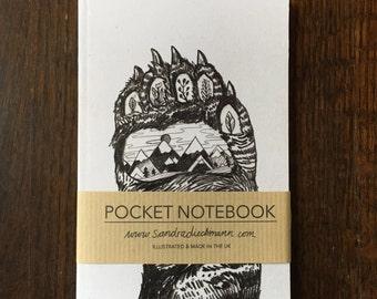 Notebook, Jotter, Mini Sketchbook   Bear Paw