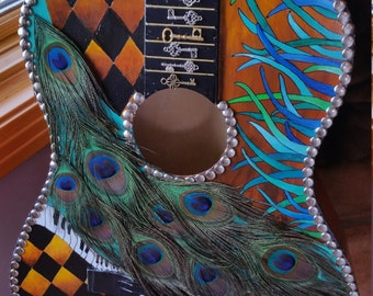 The Keys Hand Painted and Mosaic Guitar - On Sale!