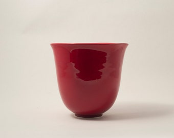 Deep Cranberry Red Vase
