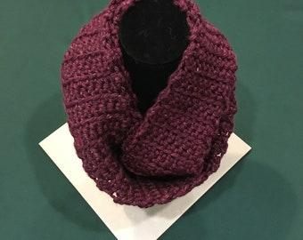 Infinity Scarf, Crochet, Wine, Burgandy