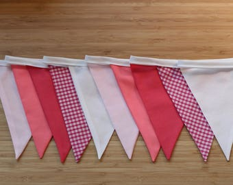 Pink ombre bunting - pink ombre garland - multicoloured bunting - handmade item