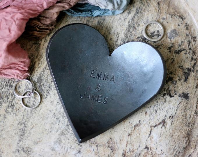 Steel Anniversary Heart Bowl